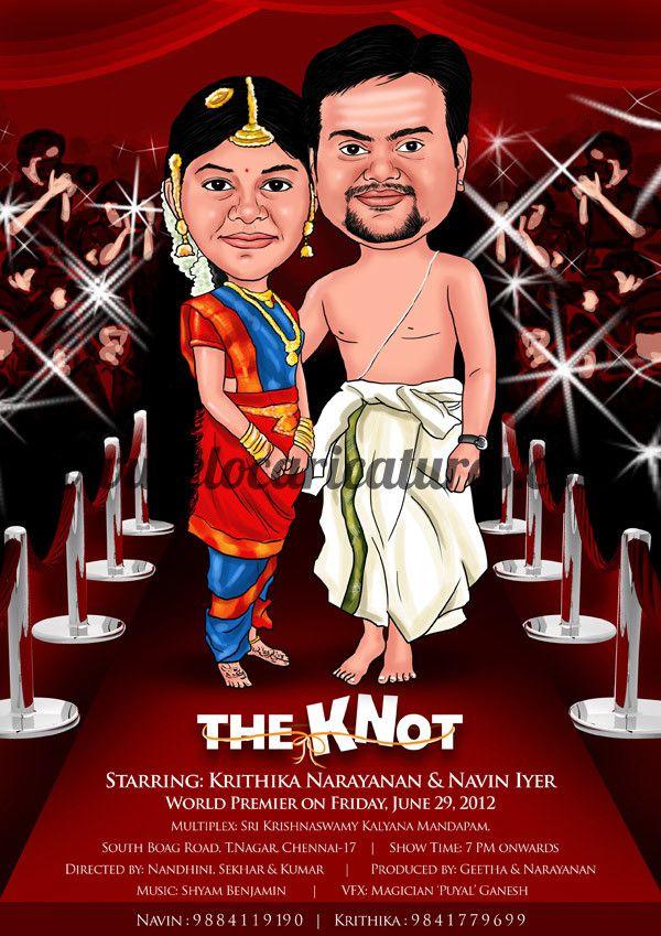 South Indian Wedding Caricature 35 best Wedding