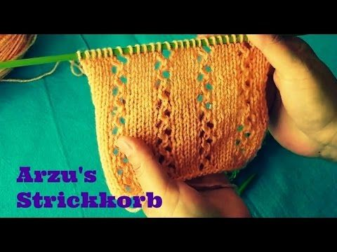 Stricken - Ajourmuster Kreiselnetz - Veronika Hug - YouTube