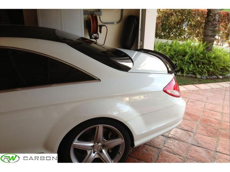 Checkout one of our customers pictures of his #W216 #Mercedes #Cl63 #AMG fitted with our #CF rear spoiler.  We have these pieces in stock at #rwcarbon