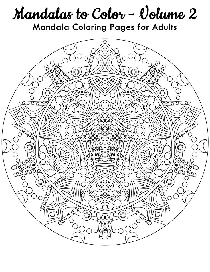 FREE Page Mandalas To Color From Volume 2 Click Here For 49 More You