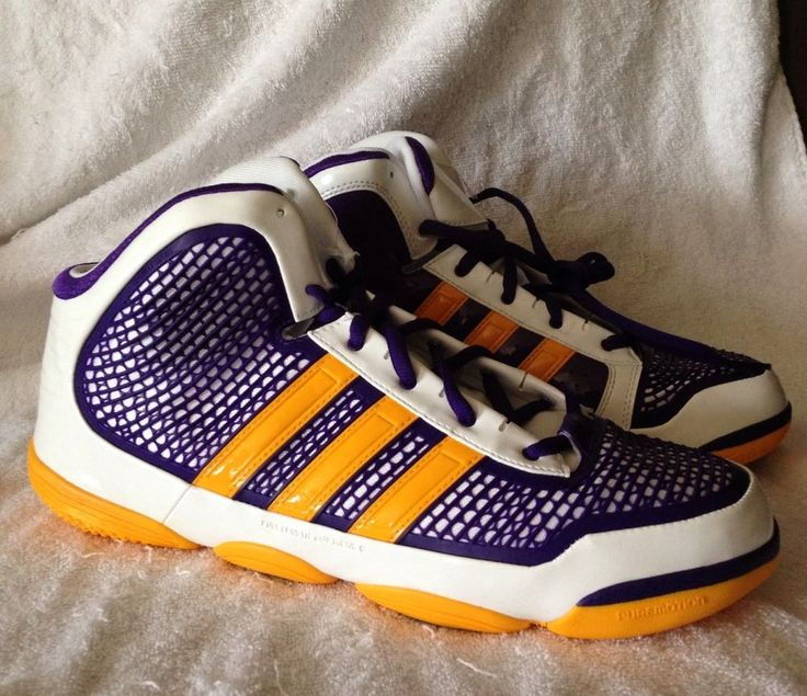 Adidas Adipure LA Lakers Adizero Crazy Quick Mens Basketball Sneakers Size  15