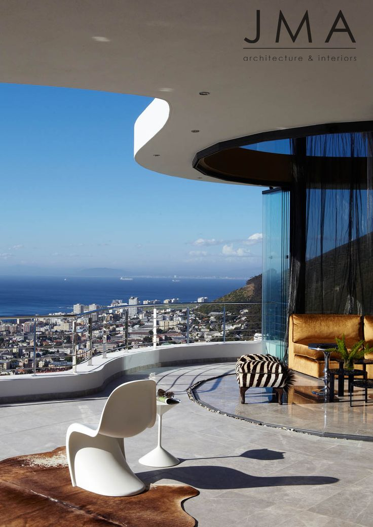 Daytime city views from Cape Town house.
