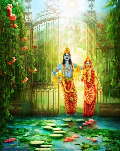 Krishna and Radha by TElenaDA
