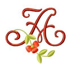 Free Embroidery Design Monogram 64- A | Gosia Design