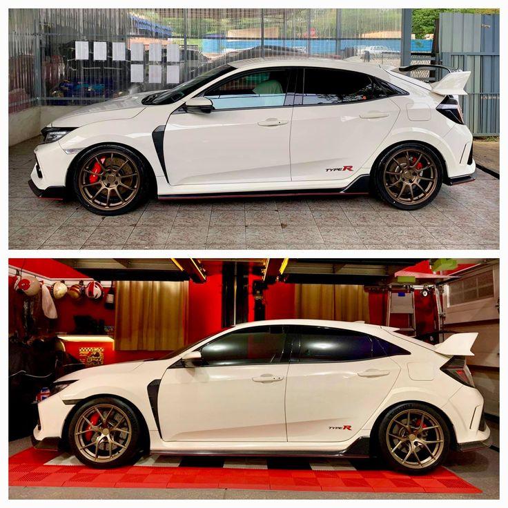 Volk Ze40 (Top) vs. Titan7 (bottom) Honda civic car