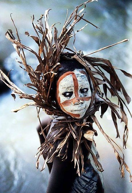 Mursi boy. Omo valley. Ethiopia