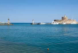 The Entrance to Rhodes by boat is a breathtaking place. Have you ever had the chance to see it? More information here :)    http://theislandofrhodes.com/visit-the-sites