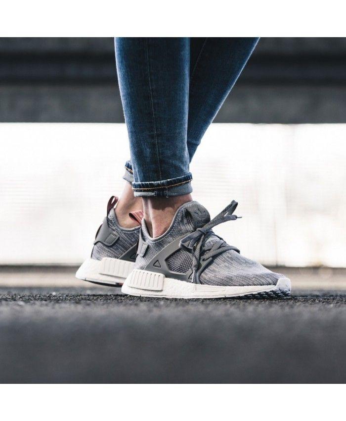 30bc7197b8841 Adidas NMD Xr1 Womens Primeknit Clear Grey Onix Shoe