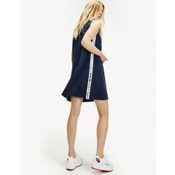 Tommy Hilfiger A Linien Kleid Mit Logo Tape Xxs Tommy Hilfiger In 2020 Tommy Hilfiger Kleider Und Models