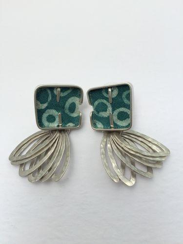 Cobble Loop Earrings - Teal MICHELE DAYKIN