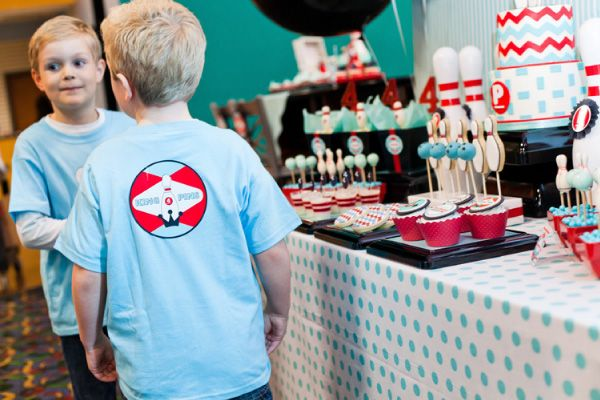 Bowling party custom shirts