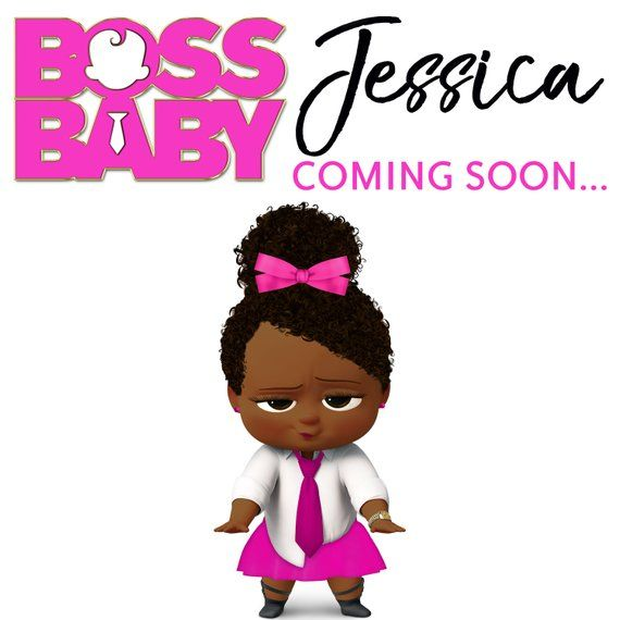 The Boss Baby Girl African American Banner The Boss Baby