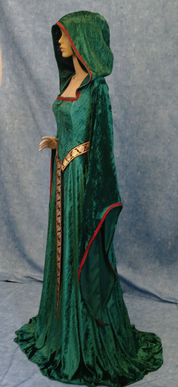 medieval renaissance ELVEN FAIRY hobbit  dress by camelotcostumes, $199.00