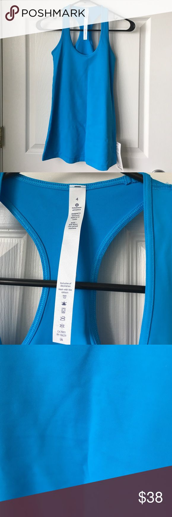 NWT LULULEMON Kayak Blue Cool Racerback Brand new with tags! No trades, please. lululemon athletica Tops Tank Tops