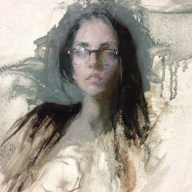 Jeremy Lipking - Stephanie in Glasses