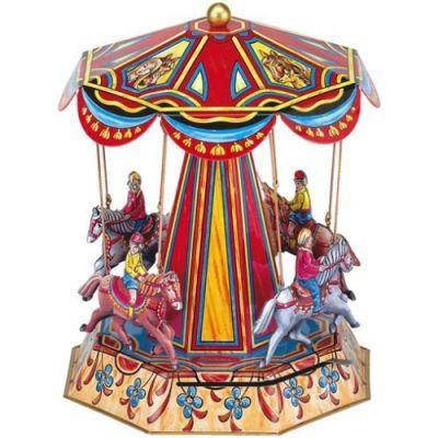 Заводная игрушка Карусель Лошадки W610 WILESCO  ― Мир игрушки