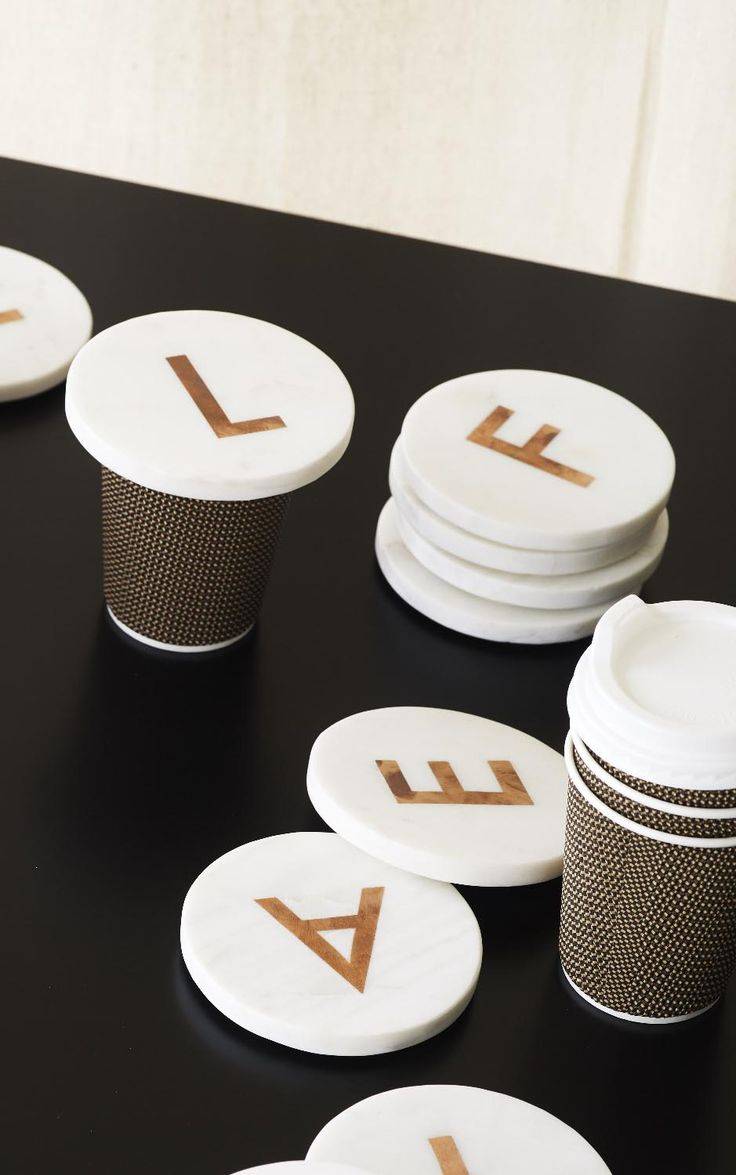 The Alphabet Coaster is the essential companion to make your tea time a personal affair.
