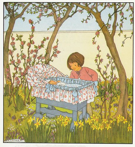 Rie Cramer Het jaar rond editie 1978, ill het nieuwe kindje....................... lb xxx.