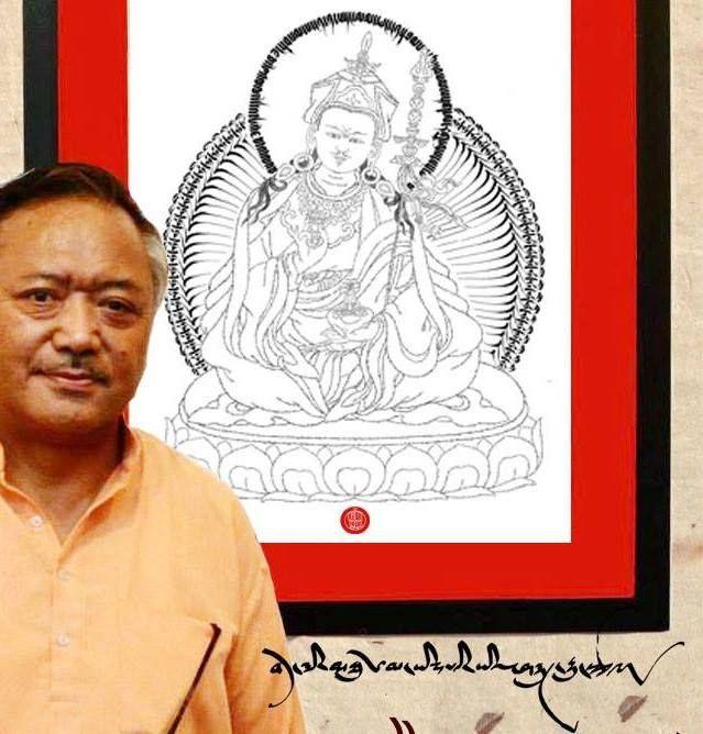 ARTE DA CALIGRAFIA TIBETANA – Jamyang Dorjee especializou-se em uma arte ímpar, que mistura, de forma harmônica, elementos e imagens tradicionais budistas com a caligrafia tibetana.