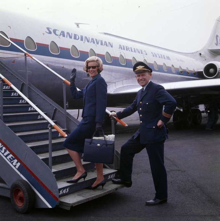 Flight Attendant and Pilot