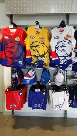 2015 Western Bulldogs BLK Training Guernseys and onfield shorts available at Bulldogs Shop! The Yellow colourway is exclusive to Bulldogs Shop! #lookingsharp #bemorebulldog