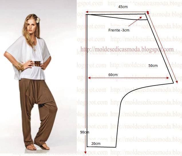 Harem pants pattern