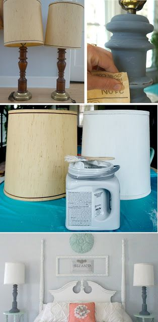 Kammy's Korner: Painting Lamp Shades Pros & Cons {Master Bedroom}