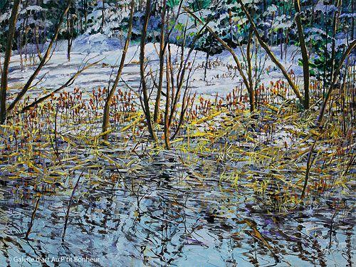 Bev Rodin, 'Wetlands in Winter', 30'' x 40'' | Galerie d'art - Au P'tit Bonheur - Art Gallery