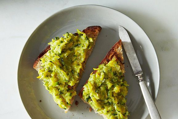 Jennie Cook's Zucchini Butter by food52: Perfect for that abundant farm share. #Zucchini #Spread #Snacks