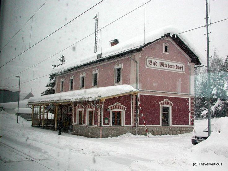 Railway station Bad Mitterndorf in Styria, Austria