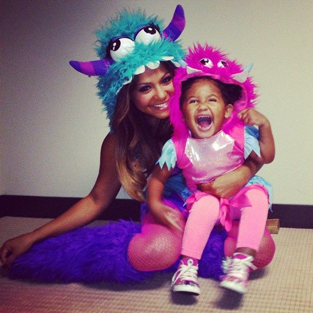 mother daughter costume ideas | Some Spooky Preciousness: Christina Milian & Daughter Violet Show Off ...