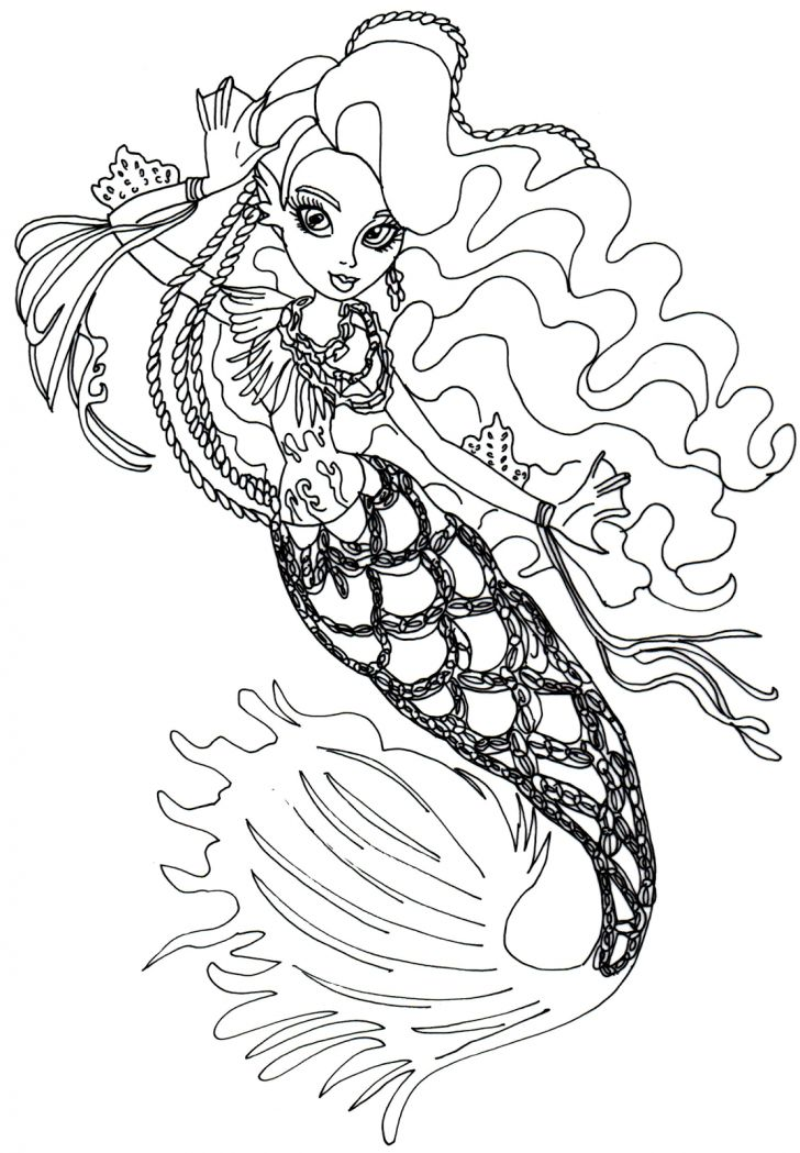 sirena von boo monster high coloring page - Scary Monster High Coloring Pages