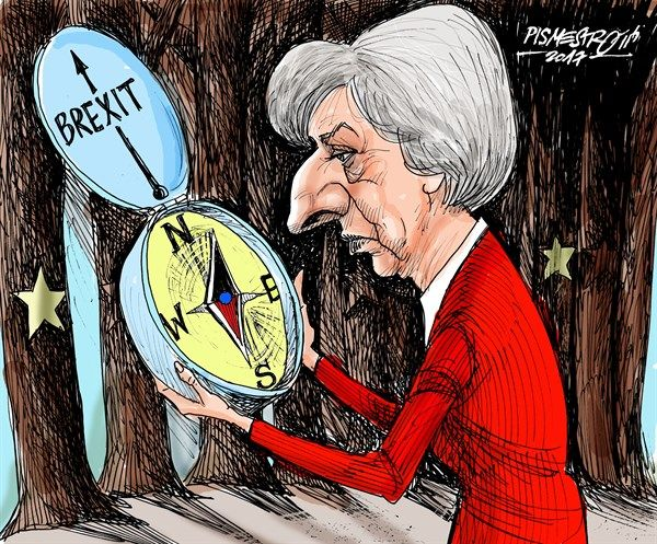 6/26/17 Petar Pismestrovic - Kleine Zeitung, Austria - Orienteering - English - Theresa May, Great Britain, Conservative, Europe, EU, Brexit