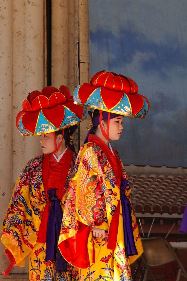 Traditional Dancer, Okinawa Pref.,Japan