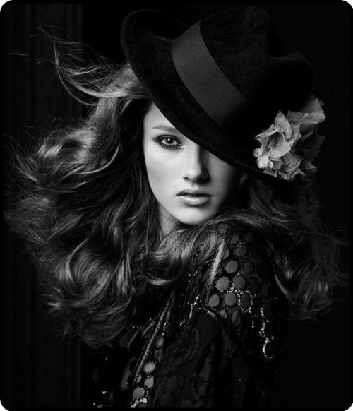 Hats are great accessories  for beauty shoots!