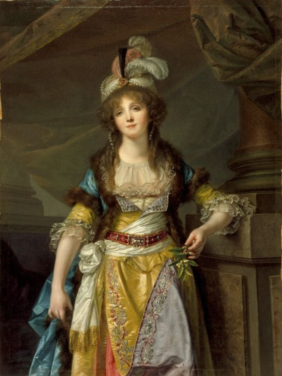 """""""Portrait of a Lady in Turkish Fancy Dress"""" by Jean-Baptiste Greuze (1790) at the Los Angeles County Museum of Art, Los Angeles:"""