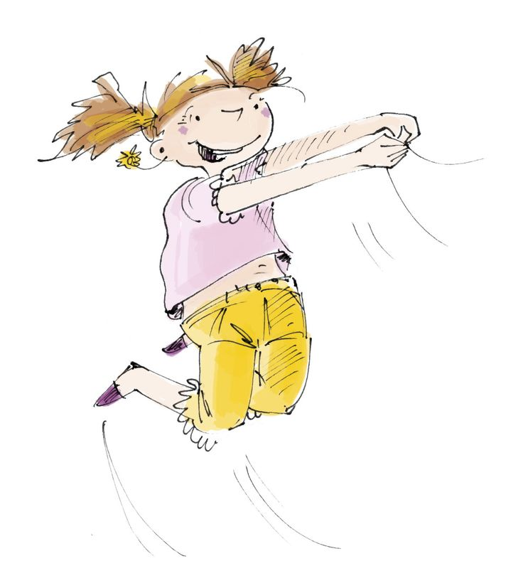 Hüpfendes Mädchen