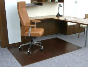 Purely Bamboo Office Chair Mat Staples