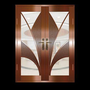 Security door double doors and copper on pinterest for Double security doors