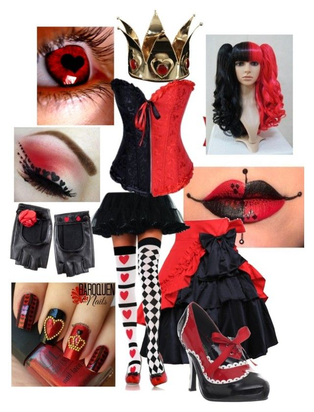 """""""QUEEN OF HEARTS (alice in wonderland)"""" by anna-fuentes-sykes ❤ liked on Polyvore featuring Elope, Funtasma, Alice, aliceinwonderland and QueenOfHearts"""