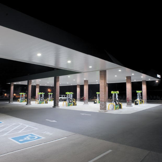 Petrol Station Lighting For Forecourt Canopies 227 Series