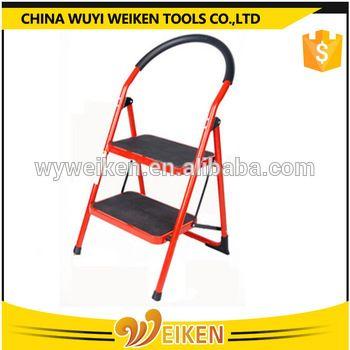 Steel Household 2 Step Ladder Red Color