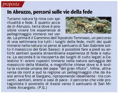 """Abruzzo: terra dove è possibile vivere esperienze di pellegrinaggio immersi nel verde con """"Il Cammino dell'Apostolo Tommaso""""."""