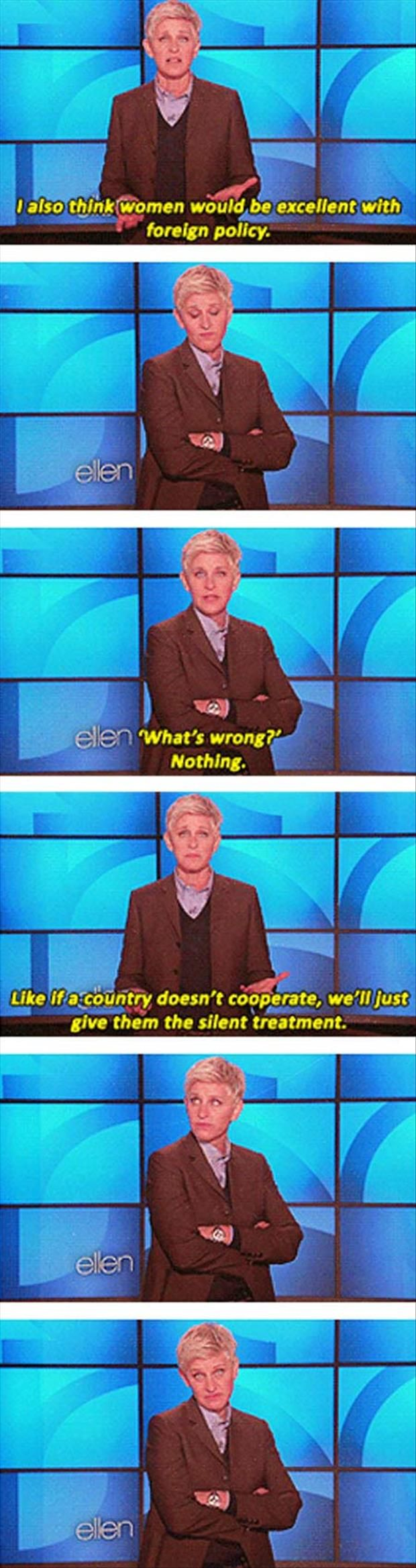 Funny Pictures – 66 Pics: Ellen Degeneres, Laughing, Funny Pictures, Giggles, Foreign Policy, Random, Funny Stuff, Bring Peace, Ellen Degenerative