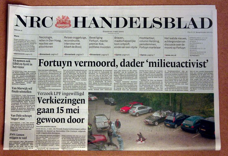Recent history in old newspapers: Dutch politician Pim Fortuyn murdered | Flickr - Photo Sharing!