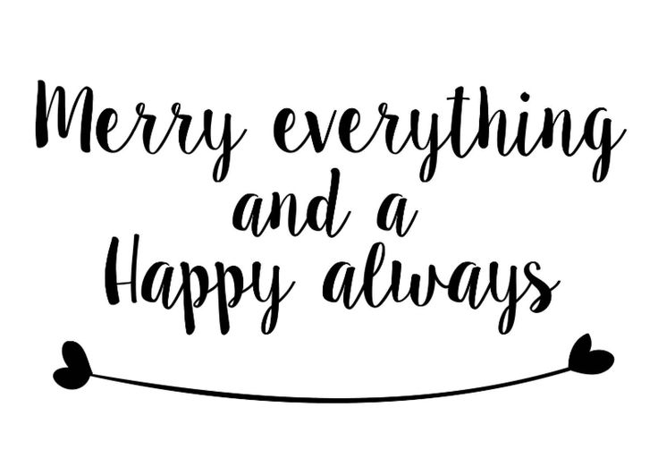 Leuke, lieve en originele kerstkaart Merry everything and a happy always!                                                                                                                                                                                 More