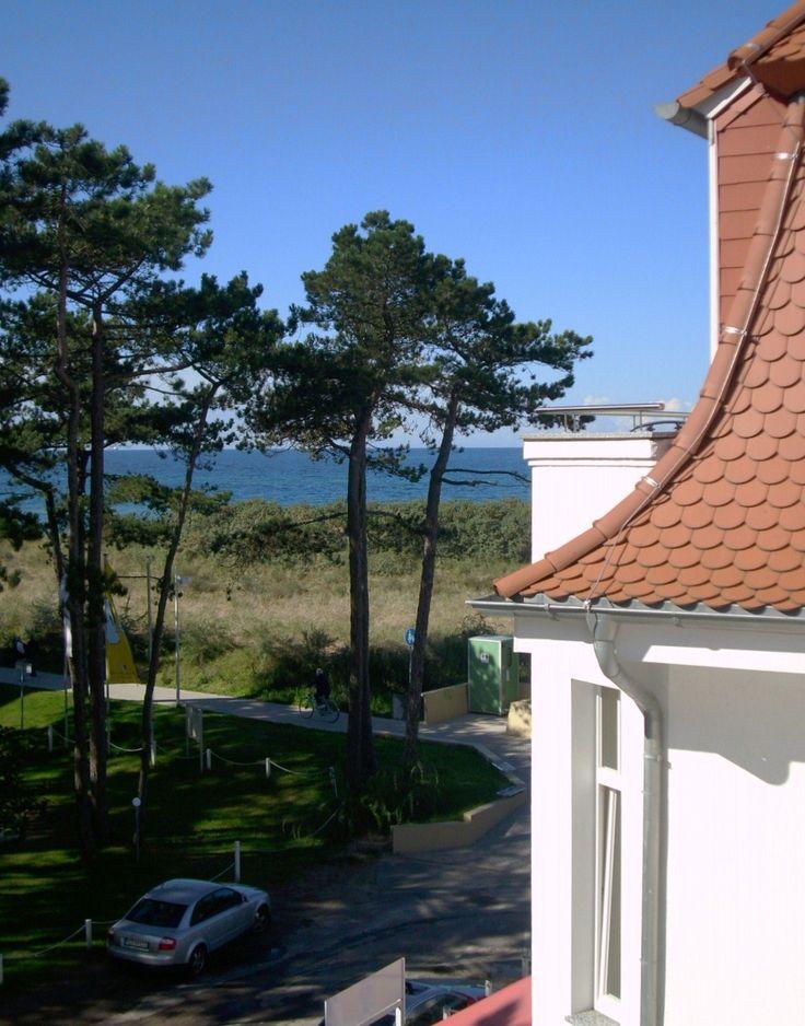 Blick vom Hotel in Warnemünde-Ostsee-