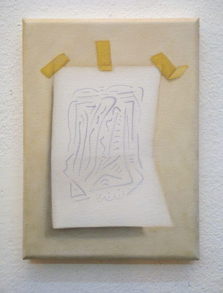 Juan Reos - Dibujo sobre papel - oleo s tela - 18x24cm - 2015