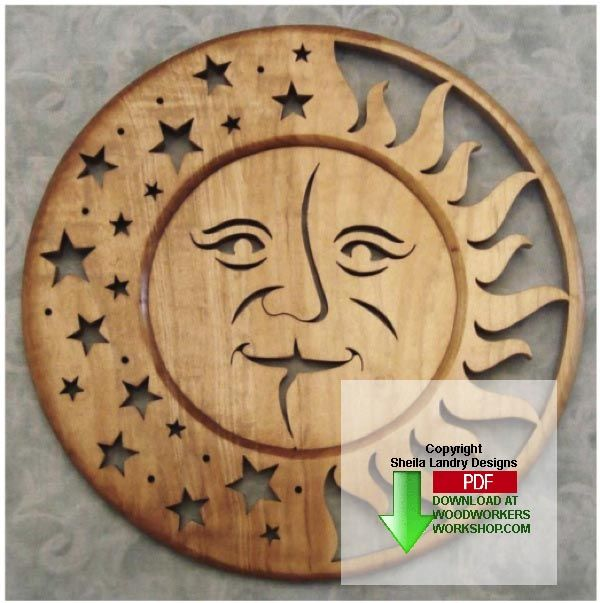 SUN MOON SCROLLSAW PATTERN woodworking plans and ...
