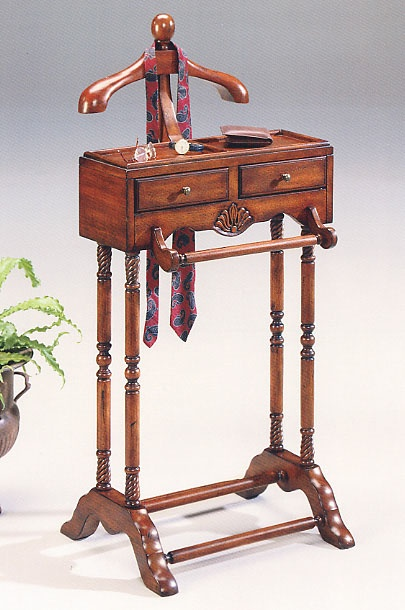 butler cherry mens clothes valet furniture stand with